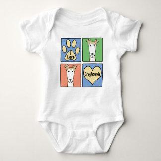 I Liebe-Windhunde Baby Strampler