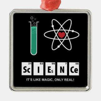 I Liebe-Wissenschaft - Verzierung Silbernes Ornament