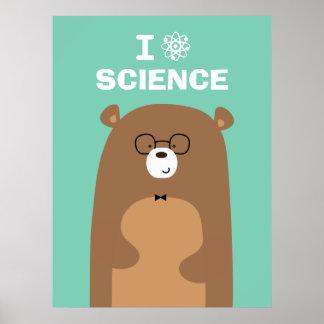 I Liebe-Wissenschafts-Bär Poster