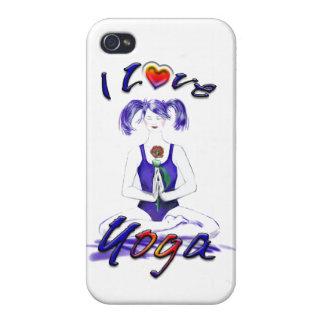 I Liebe Yoga-Yoga Mädchen iPhone 4 Cover