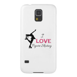I LIEBE Zahl Skaten, Schneeflocken u. Skater Samsung Galaxy S5 Cover