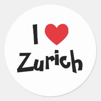 I Liebe Zürich Runder Aufkleber