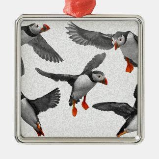 I LiebePuffins! Silbernes Ornament