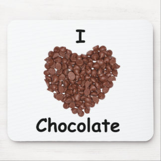 I Liebeschokolade, Schokoladenchip-Herzform Mauspad