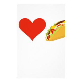 I LiebeTacos für Taco-Liebhaber Briefpapier