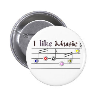 I like Music Runder Button 5,7 Cm