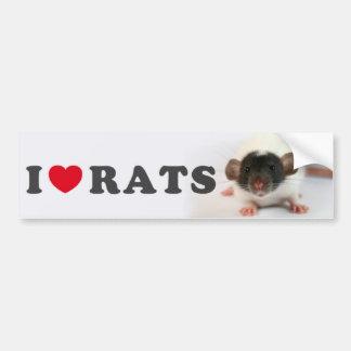 I love (cute) Rats Adhésifs Pour Voiture