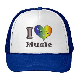 I love Music Baseball Mützen