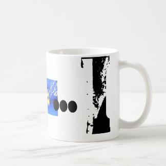 I Monogramm-Typografiecoole Grunge-Tasse Tasse