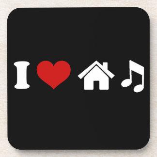 I Party-Tanzen des Liebe-Haus-Musik-Untersetzer-| Untersetzer