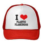 I Plastikflamingos des HERZENS (LIEBE) Baseball Kappe