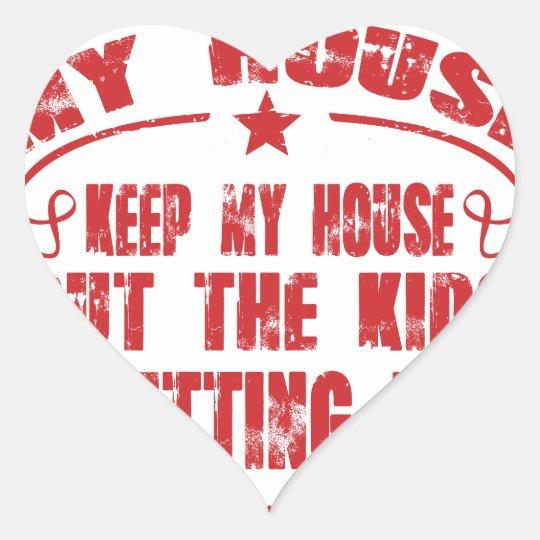 I prüfte Kind mein Haus Herz-Aufkleber