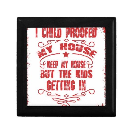 I prüfte Kind mein Haus Kleine Quadratische Schatulle