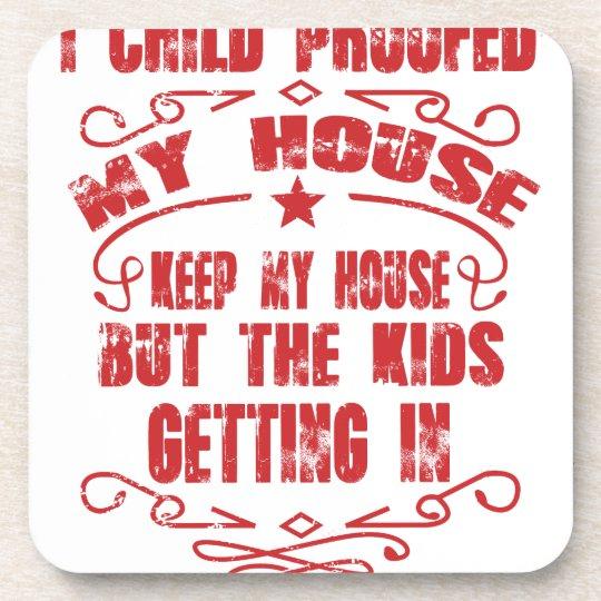 I prüfte Kind mein Haus Untersetzer