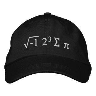 I PU mit 8 Summen - ich aß lustigen Mathe-Hut Besticktes Cap