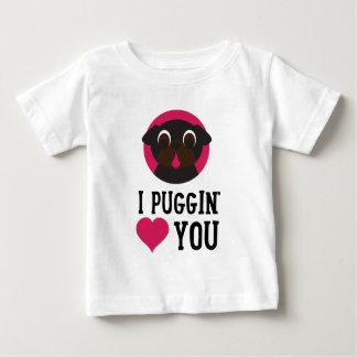I Puggin Liebe schwärzen Sie Mops Baby T-shirt