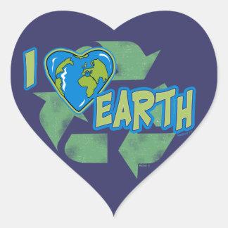 I recycelt Liebe-Erde Aufkleber