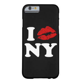 I roter Lippenstift-küssende Lippen Liebe-New York Barely There iPhone 6 Hülle