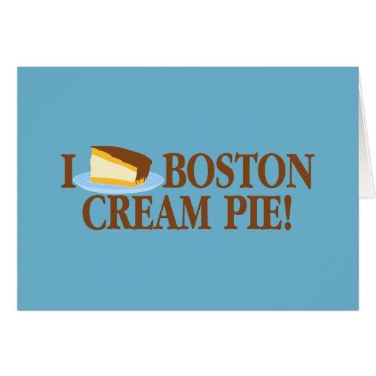 I Sahnetorte Liebe-Bostons Karte