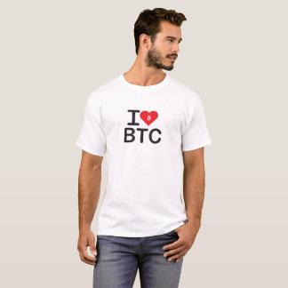 I Shirt des Herz-BTC (Bitcoin)