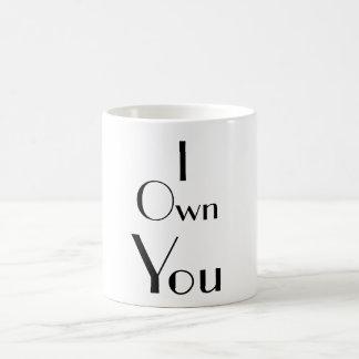 I Sie besitzen Sprüche-Typografie Kaffeetasse