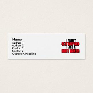 I sind ein Schmutz-Radfahrer - Visitenkarte