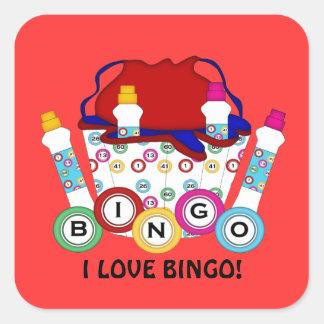 I spielender Aufkleber des Liebe-Bingo