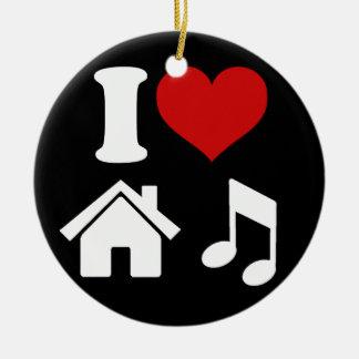 I Tanzen-Party der Liebe-Haus-Musik-Verzierungs-| Keramik Ornament