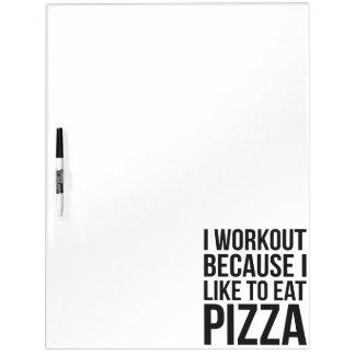 I Training, weil ich Pizza - lustige Memoboard