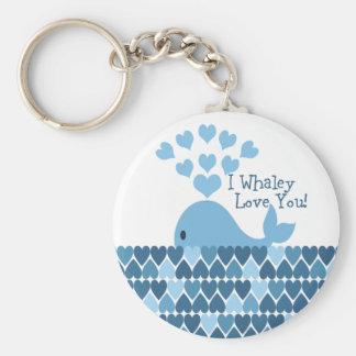 I Whaley Liebe Sie! Blau Schlüsselanhänger