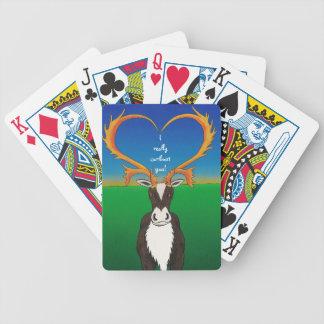 I wirklich Caribout Sie Bicycle Spielkarten