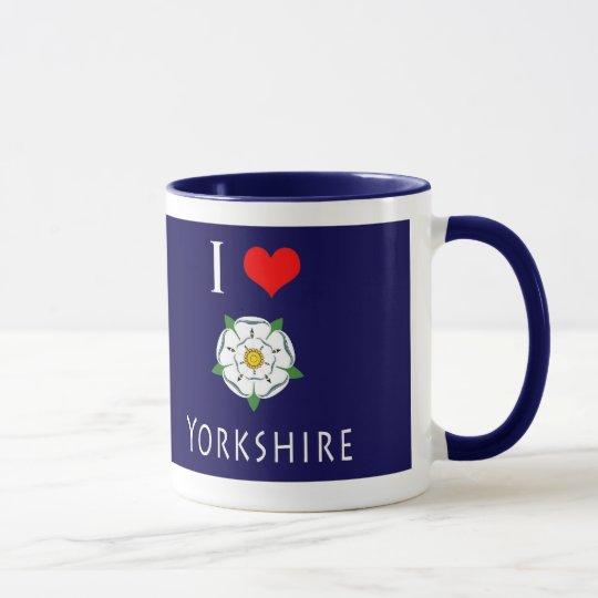 I Yorkshire-Tasse der Liebe-(Herz) Tasse