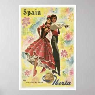 Iberia-Fluglinie der Vintagen Reise-Plakate Poster