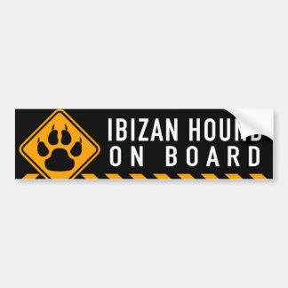 Ibizan Jagdhund an Bord Autoaufkleber