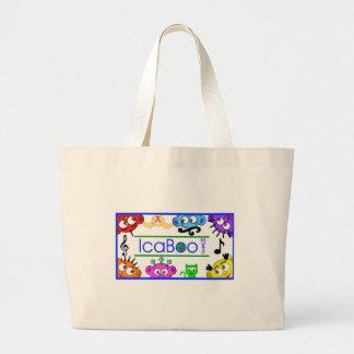 icaBoo Musik-Logo-Taschen-Tasche Jumbo Stoffbeutel