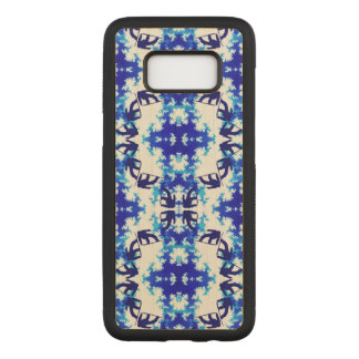Ice Blue Snowboarder Sky Tile Snowboarding Sport Carved Samsung Galaxy S8 Hülle