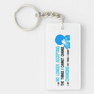 Ich ändere Sache-Schlüsselkette Schlüsselanhänger
