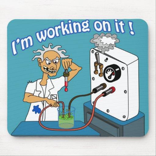 Ich arbeite an es mousepads
