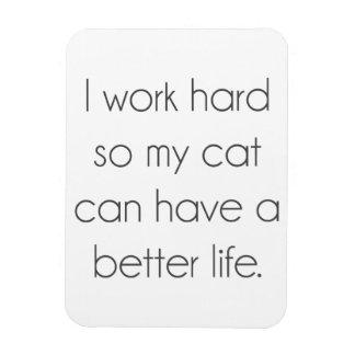 Ich arbeite schwer, also kann meine Katze ein Magnet