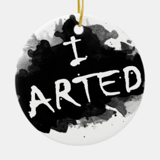 Ich arted keramik ornament