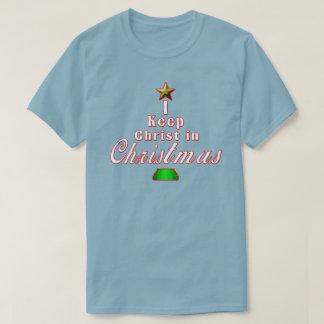 Ich behalte Christus Weihnachtsim blauen T-Shirt