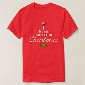 Ich behalte Christus Weihnachtsim roten T-Shirt