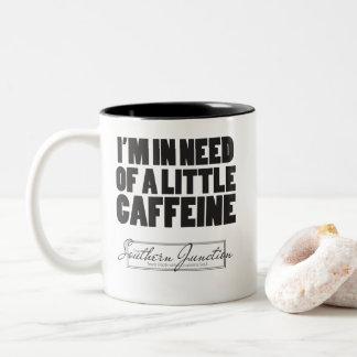 Ich benötige eine wenige Koffein-Tasse Zweifarbige Tasse