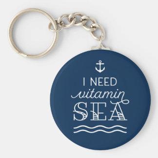 Ich benötige Vitamin-Seemarine-Knopf Keychain Schlüsselanhänger