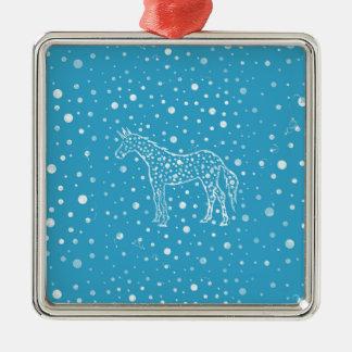 Ich beschmutze ein blaues Einhorn Silbernes Ornament