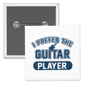 Ich bevorzuge den Gitarristen Quadratischer Button 5,1 Cm