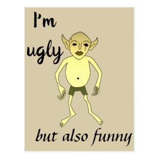 Ich bin aber auch lustig hässlich postkarte