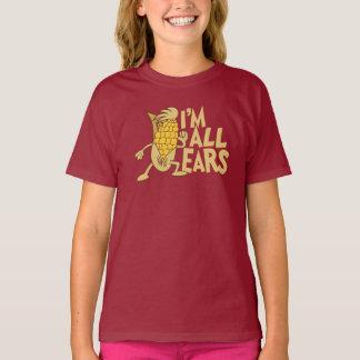 Ich bin alle Ohr-niedliche Cartoon-Witz-Grafik T-Shirt