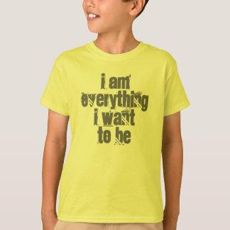 Ich bin alles, den ich will, um Sicherheits-Grün-T T-Shirt