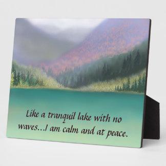 Ich bin an der Friedensplakette Fotoplatte